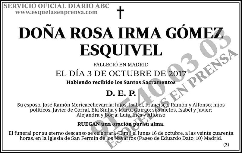 Rosa Irma Gómez Esquivel
